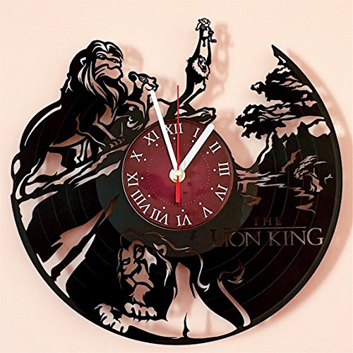 - The Lion King Vinyl Record Wall Clock - Kids Room wall decor - Gift ideas for kids, girls, boys, teens - Cartoon Unique Art Design