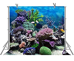 FUERMOR Background 7X5ft Underwater World Photography Backdrop For Children Photo Props Room Mural M374