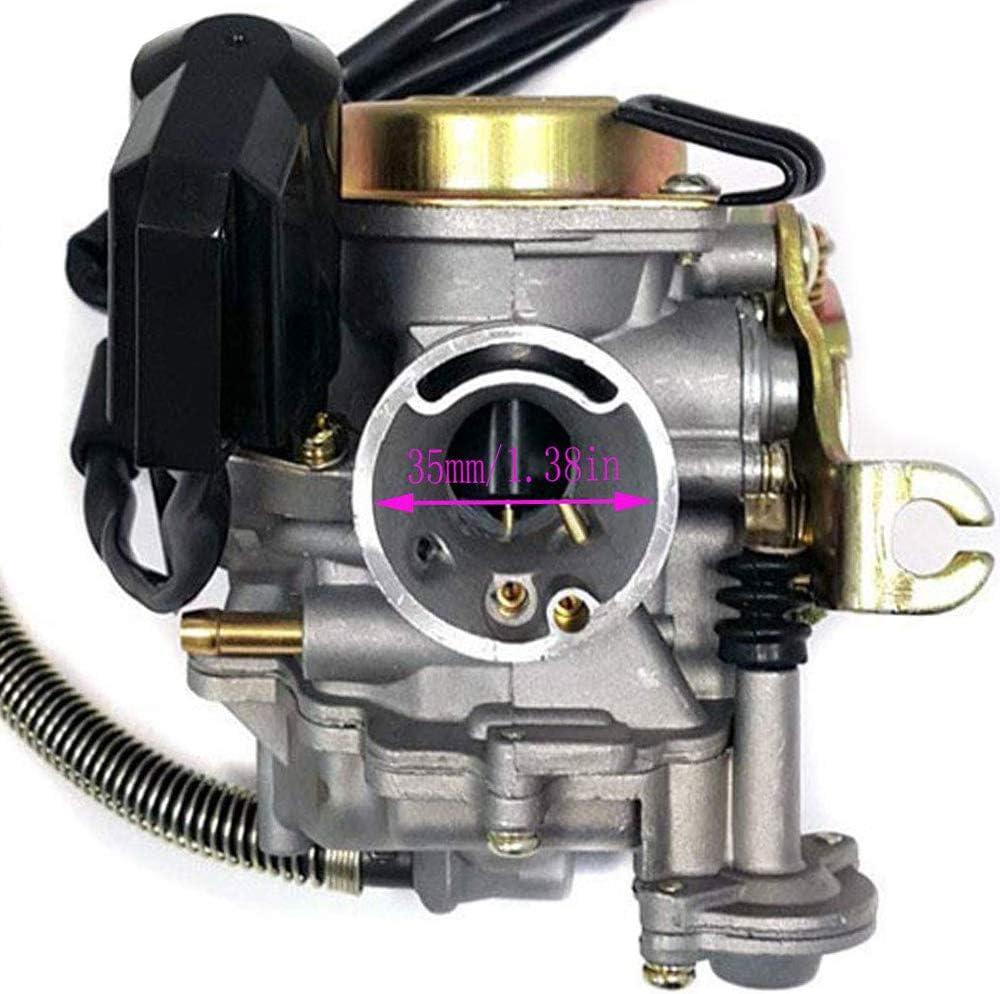 Carrfan Carburatore Adatto per GY6 50CC 49CC Motorino 4 Tempi Motore Taotao 18mm Carb Filtro Aria collettore di aspirazione