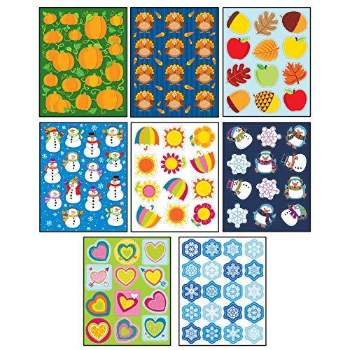 (Carson-Dellosa Seasonal Shape Sticker Set)