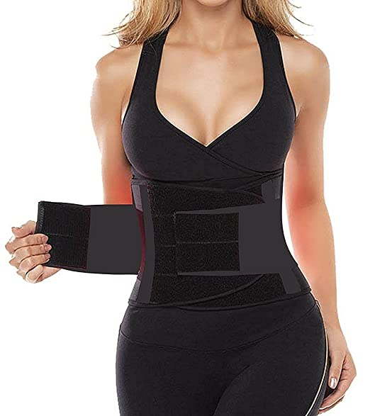 fff6fcbded1ef HLGO Women s Waist Trainer Belt Body Waist Shapewear Adjustable Waist  Cincher Belt Weight Lost Waist Trimmer