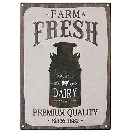 Fresh Dairy Milk Cream Butter Country Cartel De Chapa Placa ...