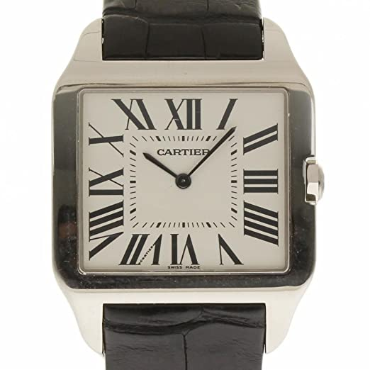Cartier Santos Dumont Mechanical-Hand-Wind Mens Reloj W2007051 (Certificado) de Segunda Mano: Cartier: Amazon.es: Relojes