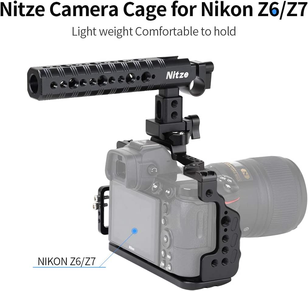 TP13 NITZE Z6//Z7 Camera Cage for Nikon Z6//Z7 with Cold Shoe and HDMI Cable Clamp