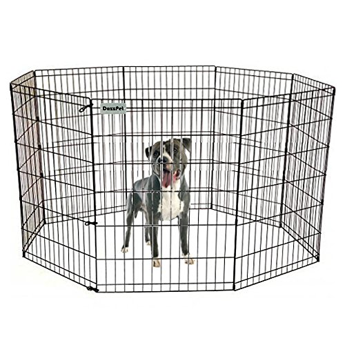 Black Pen Exercise Ultimate (DazzPet Dog Pen Puppy Playpen | 36