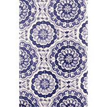 Bursting Blooms of Purple Vinyl Flannel Back Tablecloth with Zipper Umbrella Hole (52 x 70 Oblong) by Summer Fun by Elrene