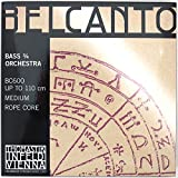 Dr Thomastik BC600 Belcanto Double Bass Strings, Complete Set, BC600, 3/4 Size, Rope Core Chrome Wound