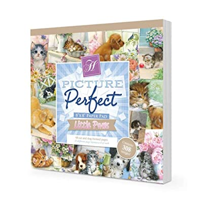 "Hunkydory Little Paws Picture Perfect 8x8"" Paper Pad PICPERF109: Office Products"