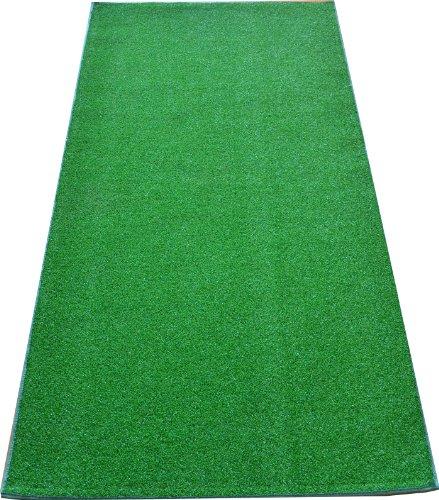 - Dean Premium Heavy Duty Indoor/Outdoor Green Artificial Grass Turf Carpet Runner Rug/Putting Green/Dog Mat, Size: 3' x 12' with Bound Edges