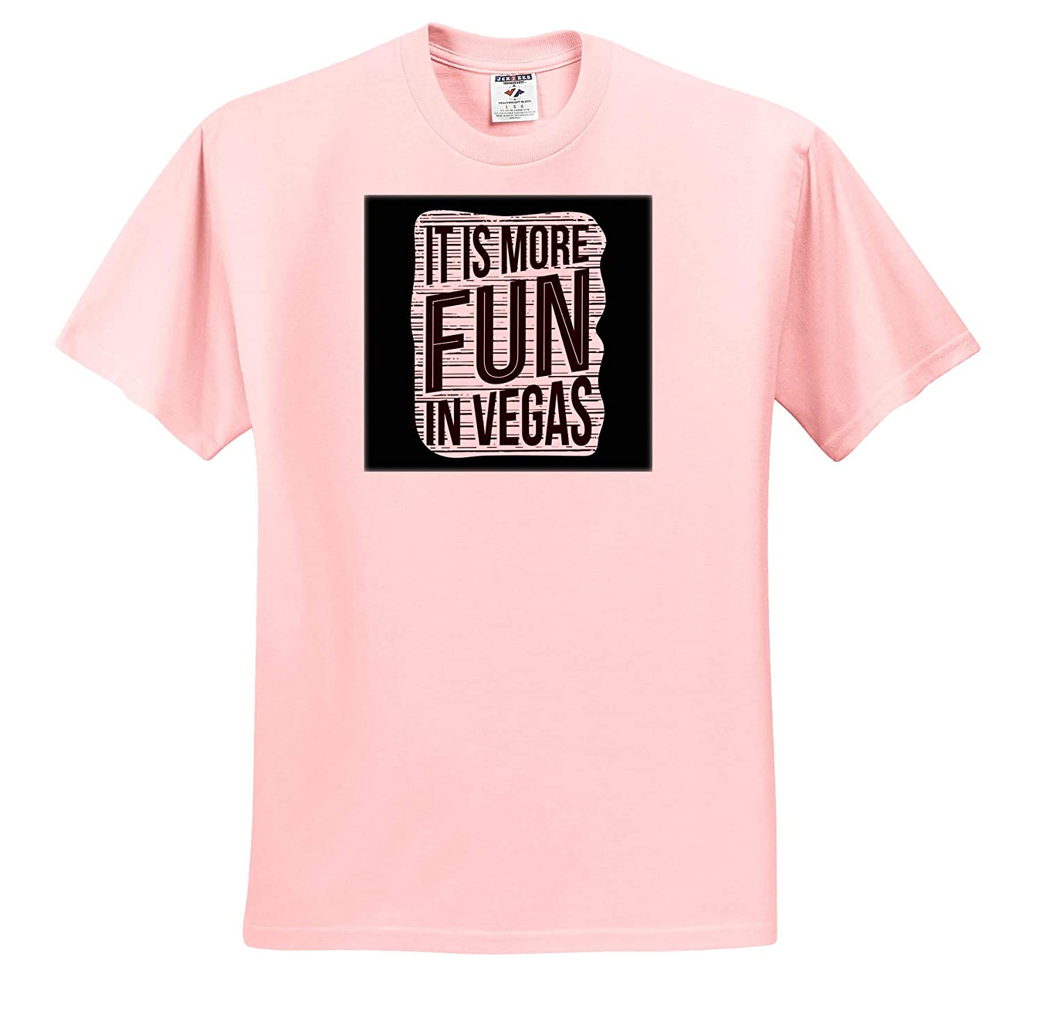 3dRose Sven Herkenrath Funny It is More Fun in Vegas for Casino Lovers Card Play Adult T-Shirt XL ts/_319679