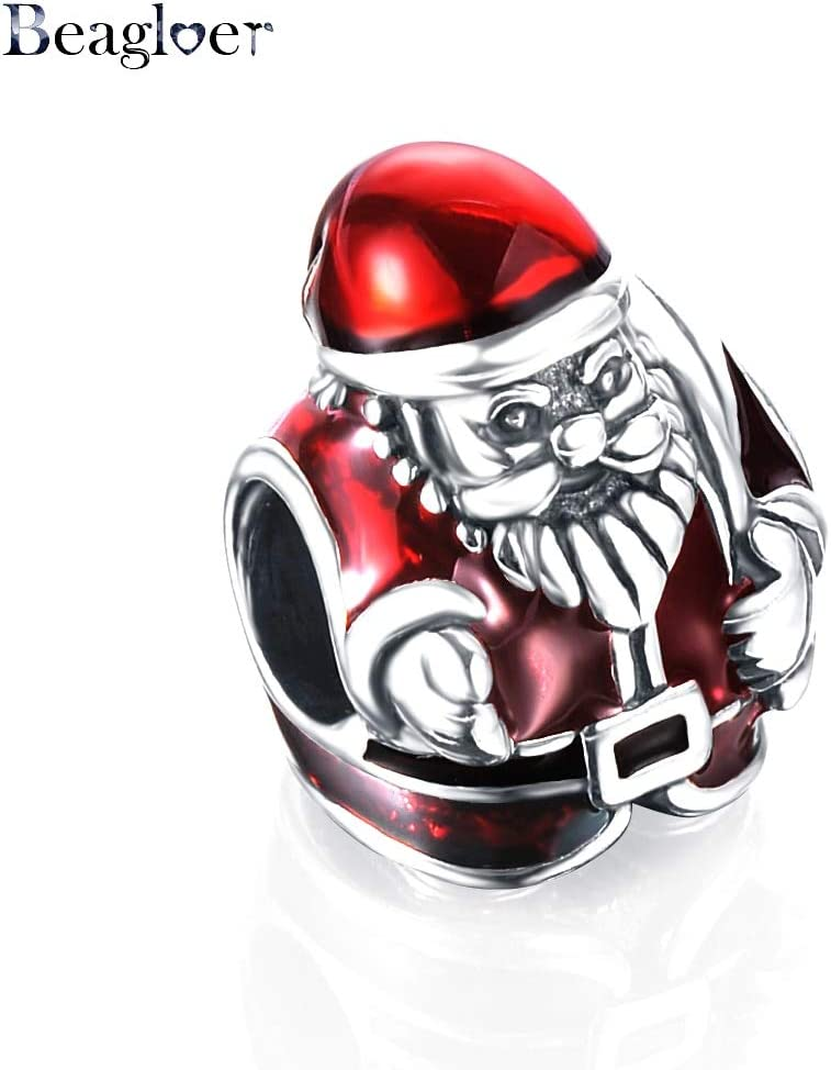 Color: 499 Calvas Brand 100/% Authentic 925 Sterling Silver Christmas Style Bead Charm Fit Brand Charm Bracelet DIY Jewelry PSMB0006