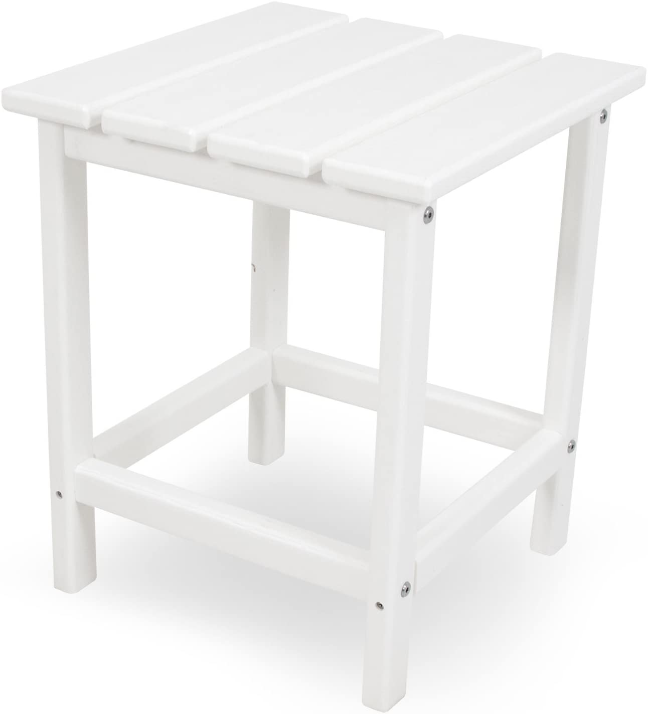 "POLYWOOD ECT18WH Long Island 18"" Side Table, White : Patio Side Tables : Garden & Outdoor"