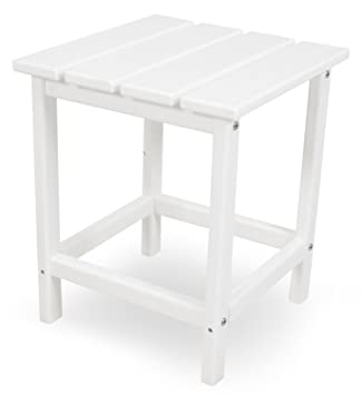 Great POLYWOOD ECT18WH Long Island 18u0026quot; Side Table, White