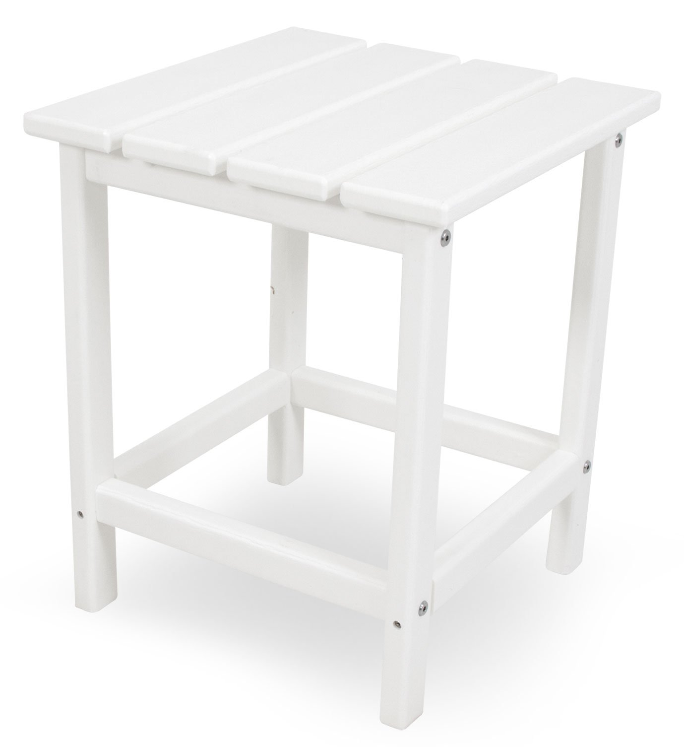 POLYWOOD ECT18WH Long Island 18'' Side Table, White