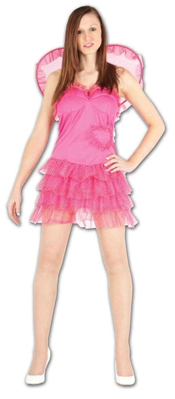 Islander Fashions Womens Pink Fairy Sparkly Cupid Disfraz Adulto ...