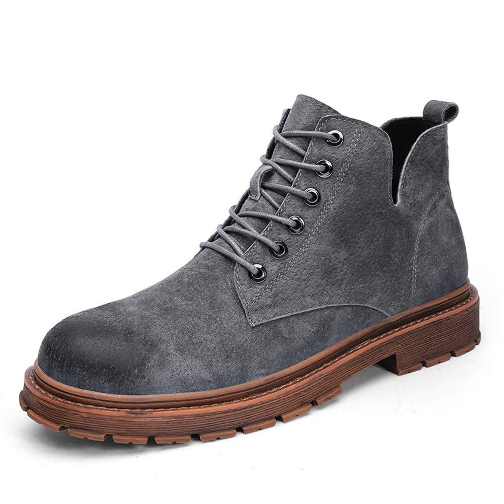 Männer Schuhe Herrenstiefel, Martin-Stiefel Herrenstiefel aus Leder Vintage-Schuhe für Desert-Tooling-Stiefeletten Herrenmode Stiefel (Farbe : B, Größe : 43)