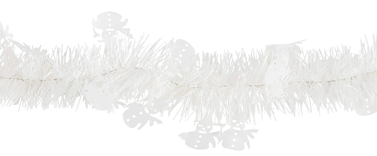 Blue Panda Halloween Tinsel Garland - 6-Pack Ghost Garland for Halloween Party Decoration, White, 6.5 Feet Each Juvale