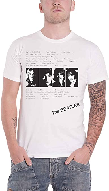 Iconic Image Short Sleeve T-Shirt The Beatles New /& Official Apple Corps