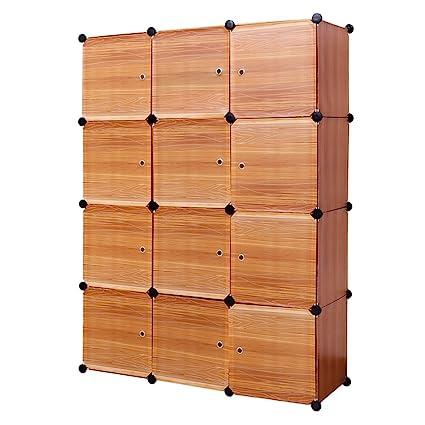 12 Cube Storage Cabinet Closet Organizer,Office Bookcase Storage  Racks,Shelf Cabinet, Panels