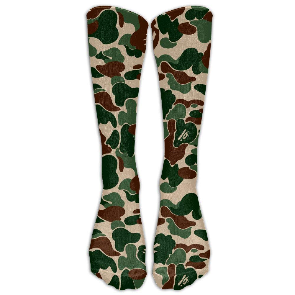 4d7fede93 Amazon.com  Aniaml Bape Camouflage Green Compression Socks For Mens   Womens  Unisex Comfortable Stockings For Sports 19.68 inches (50cm)  Clothing