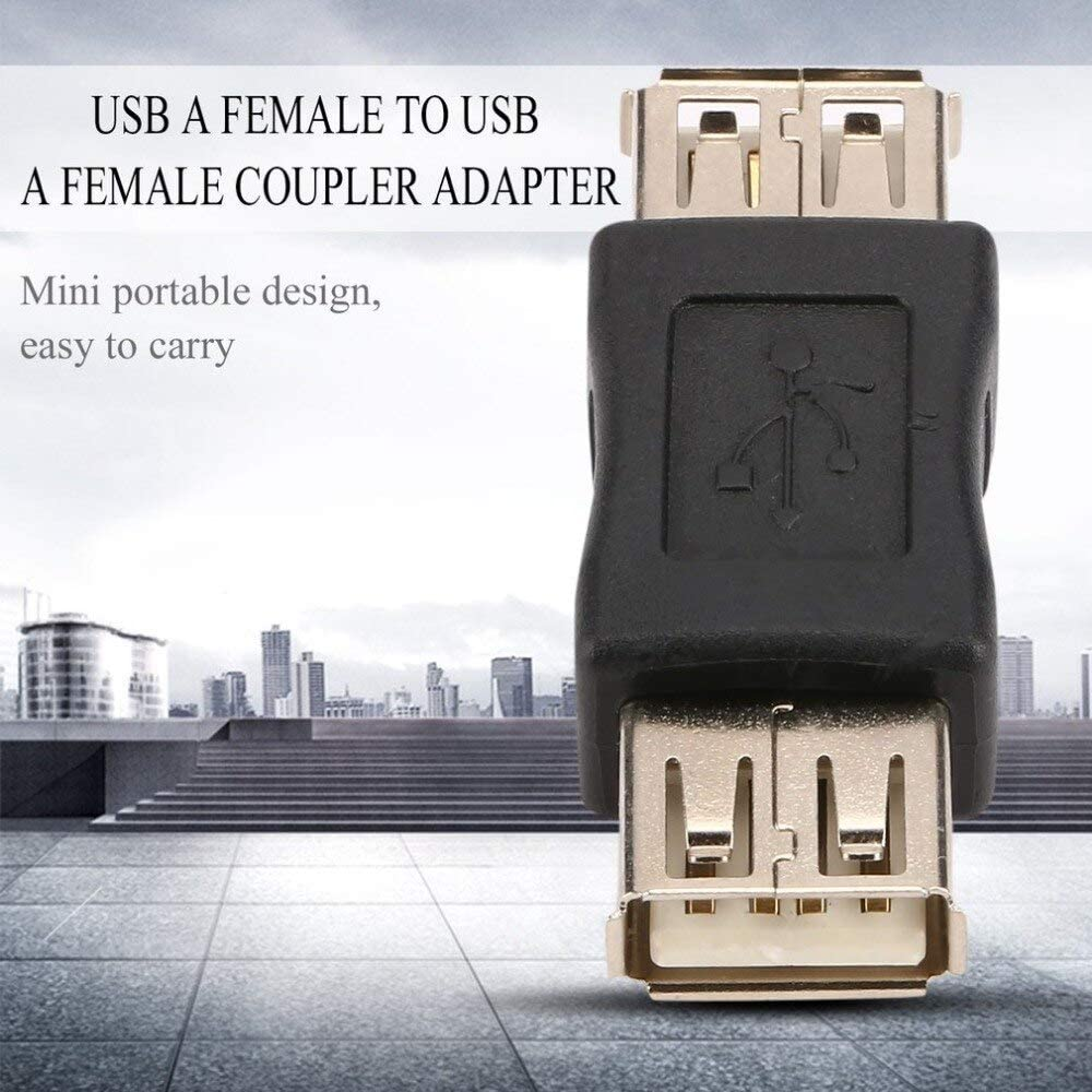Computer Cables USB 2.0 Type A Female to Female Coupler USB Adapter Connector to F//F Converter Application in Lighting Yoton Cable Length: Other