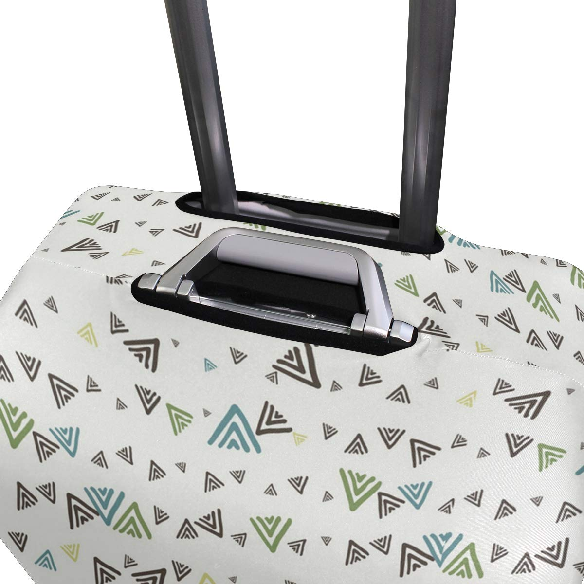 Incomplete Triangle Geometry Decor Traveler Lightweight Rotating Luggage Protector Case Can Carry With You Can Expand Travel Bag Trolley Rolling Luggage Protector Case