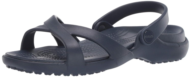 bde6e25c7 Amazon.com  Crocs Women s Meleen Cross Band Slide Sandal  Shoes