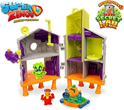 Superzings - Secret Lab Adventure 1, con 2 exclusivas figuras SuperZings, color/modelo surtido: Juguetes y juegos - Amazon.es