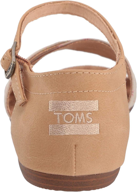 TOMS Women's Correa Sandal Oxford Tan Woven/Honey Synthetic Suede