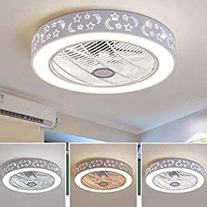 HWZQHJY Ceiling-Fan with Lights and Remote-Control, Contemporary Ceiling Lights Dimmable 40W, Fan Light for Living Room, Bedroom