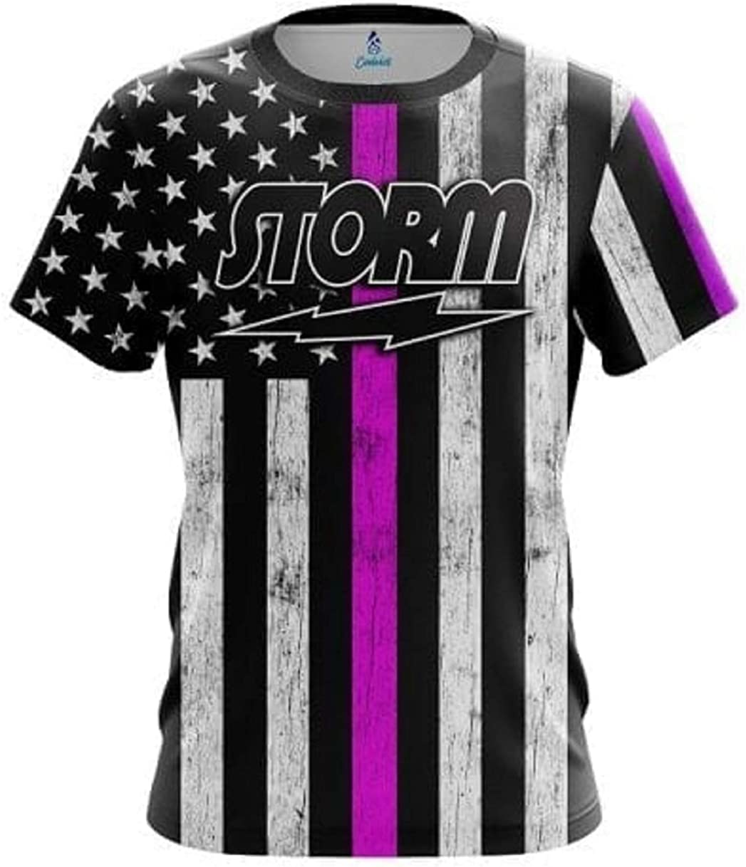 CoolWick Storm Pink Line Bowling Jersey