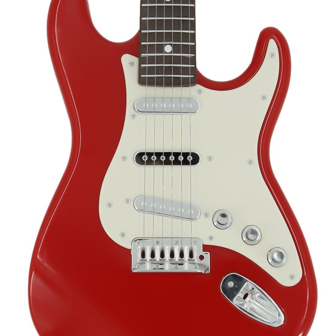MRKE 6 Cuerdas Guitarra Electrica Niños 1:1 Guitarra Juguete con Diferentes Efectos de Sonido: Amazon.es: Juguetes y juegos