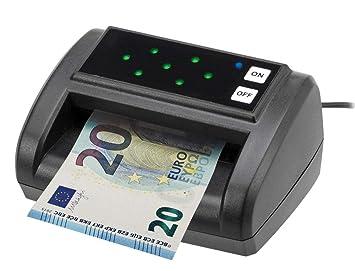 Infratronic - Detector de billetes falsos en 1 segundo para EURO GBP USD- SAFE 9785, color Negro: Amazon.es: Oficina y papelería