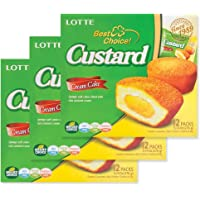 Lotte Custard Cream Cake Pie - 3pk