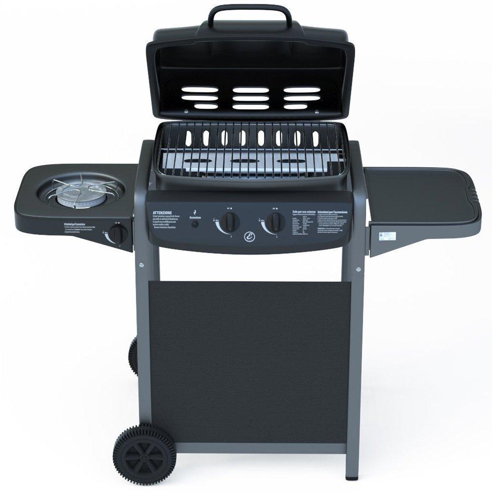 Barbecue Grill BBQ Picnic Gas Grill Garden Patio 2 1 Eglemtek® TM-Black