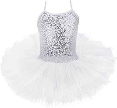 Freebily Maillot de Ballet Danza Vestido Algodón con Lentejuelas ...