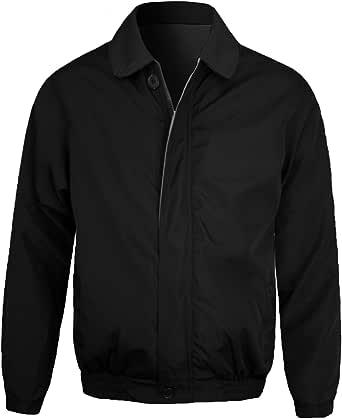 Guytalk Men's Wind and Water Resistant Windbreaker Zipper Closure Golf Jacket