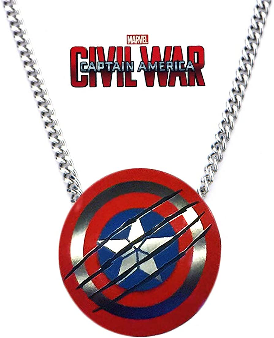 Black Panther Pendant Necklace Shield From Captain America Civil War Ltd Edition Exclusive Clothing