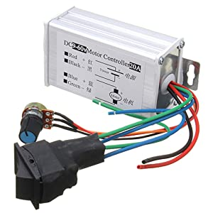 PWM Motor Speed Controller 9V 12V 18V 24V 36V 48V 60V DC 9V - 60V Pulse Width Modulation Regulator 20A 1200W Stepless Variable Speed/Forward and Reverse Switch Pulse Width Modulation