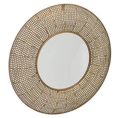 Espejo arabesco exotico Oro Viejo de Metal, de ø 66 cm - LOLAhome