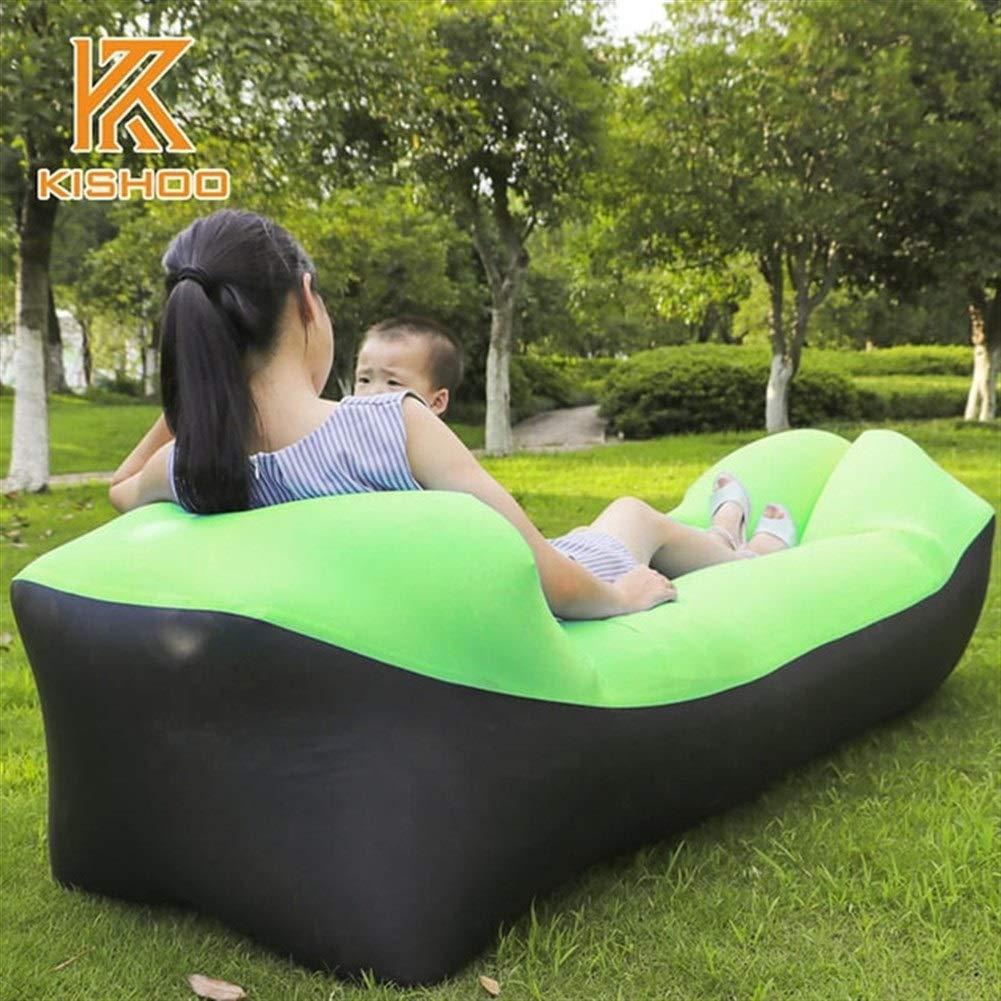 Peninsula Iron Box Camping mat Lazy Bag Lazy Outdoor Camping Lazy Couch Beach Picnic mat Inflatable Sofa Bed Bean Bag air Sofa Leisure Cushion sdaijeuh787 (Color : 3) by Peninsula Iron Box