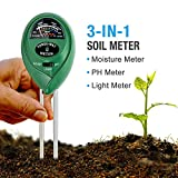 Cheap KKmall 3-in-1 Soil Meter with Moisture Light and PH Test Function