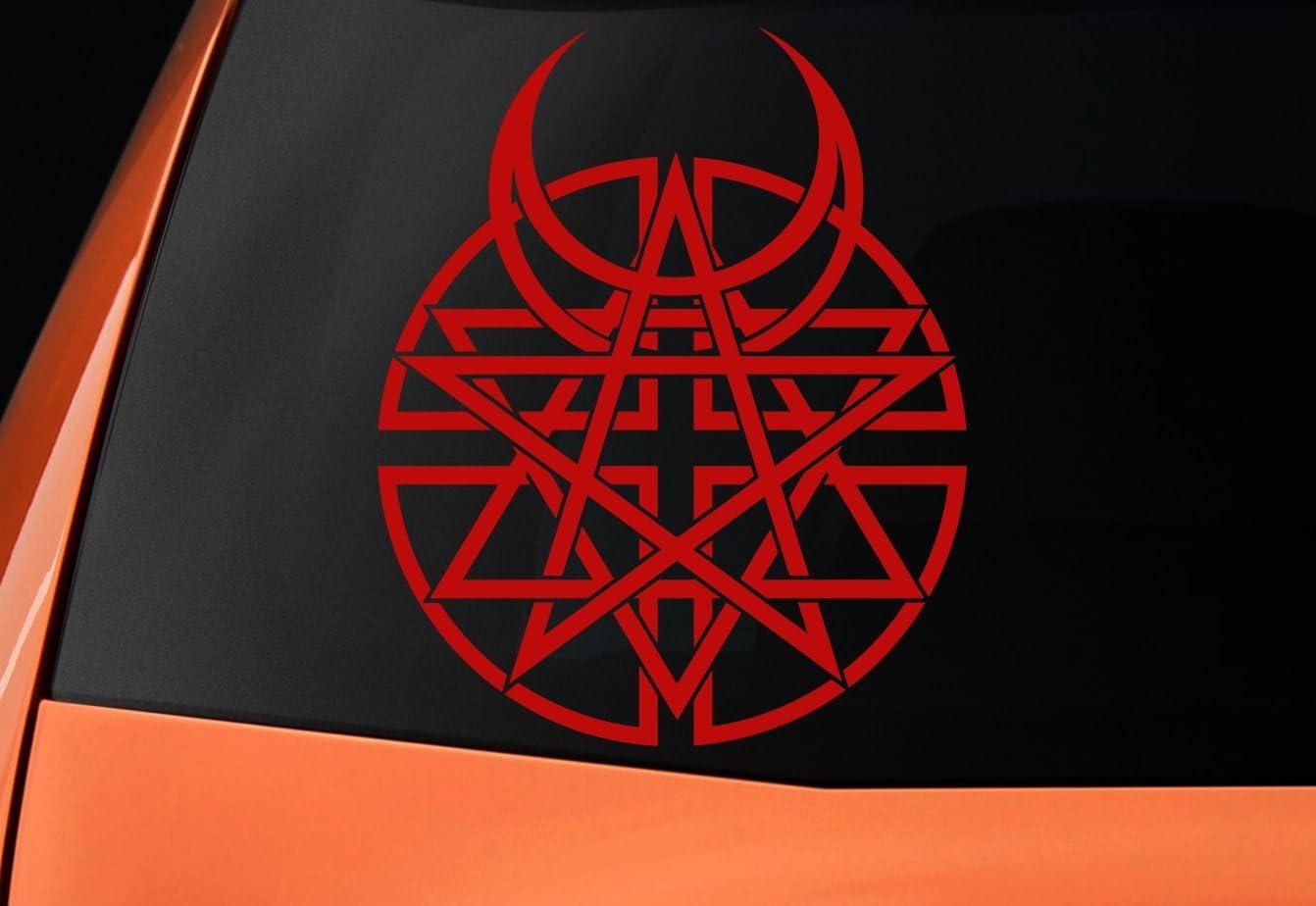 Disturbed logo- vinilo, ideal para coches, ventanas, paredes ...