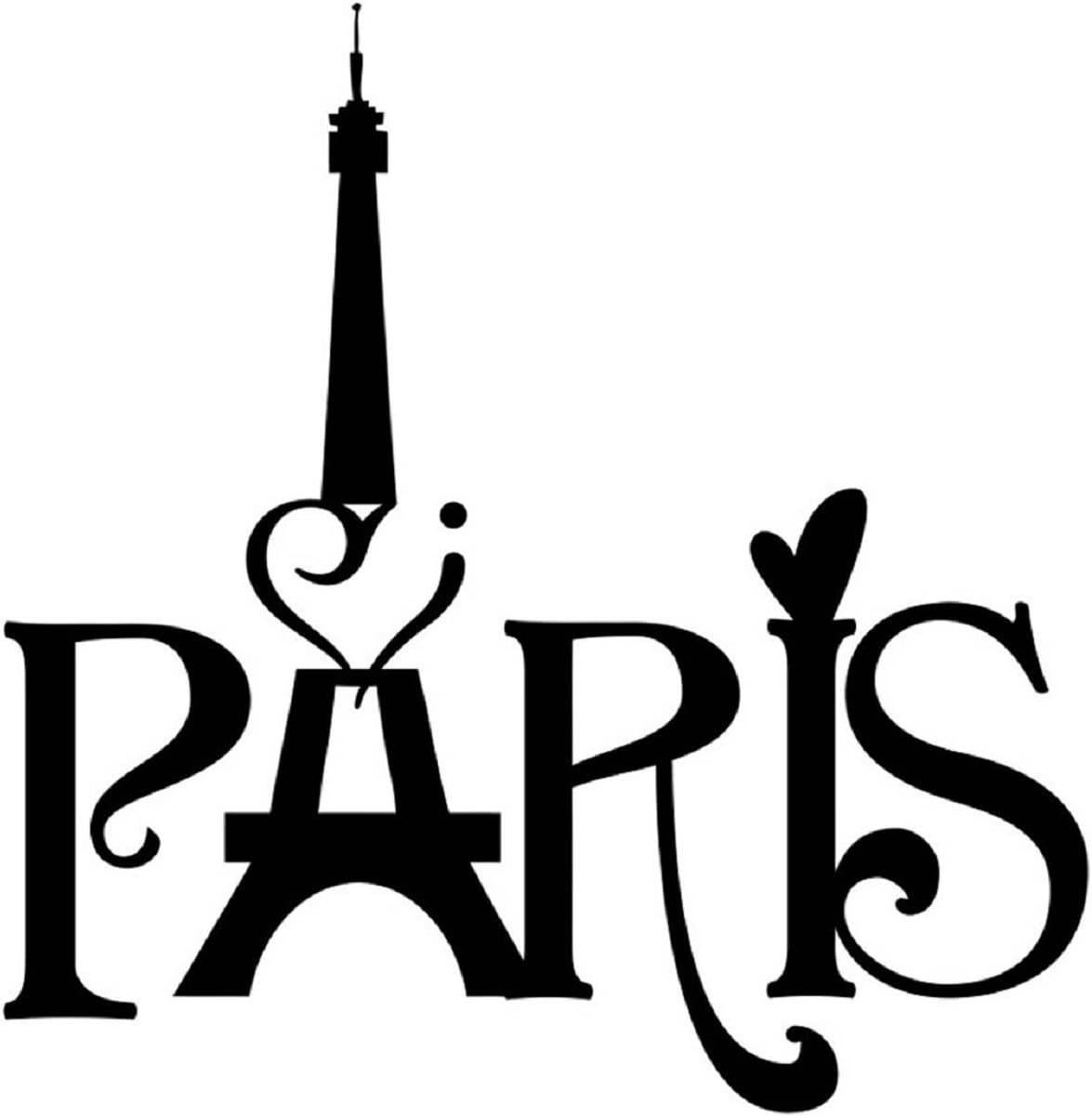 Paris City France Paris Eiffel Tower Paris Wall Decals for Girls Room Inspirational Wall Sticker Quotes Wall Decorations Décor