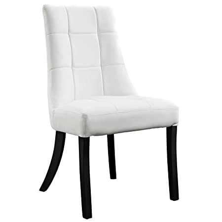 Modway Noblesse Dining Vinyl Side Chair in White