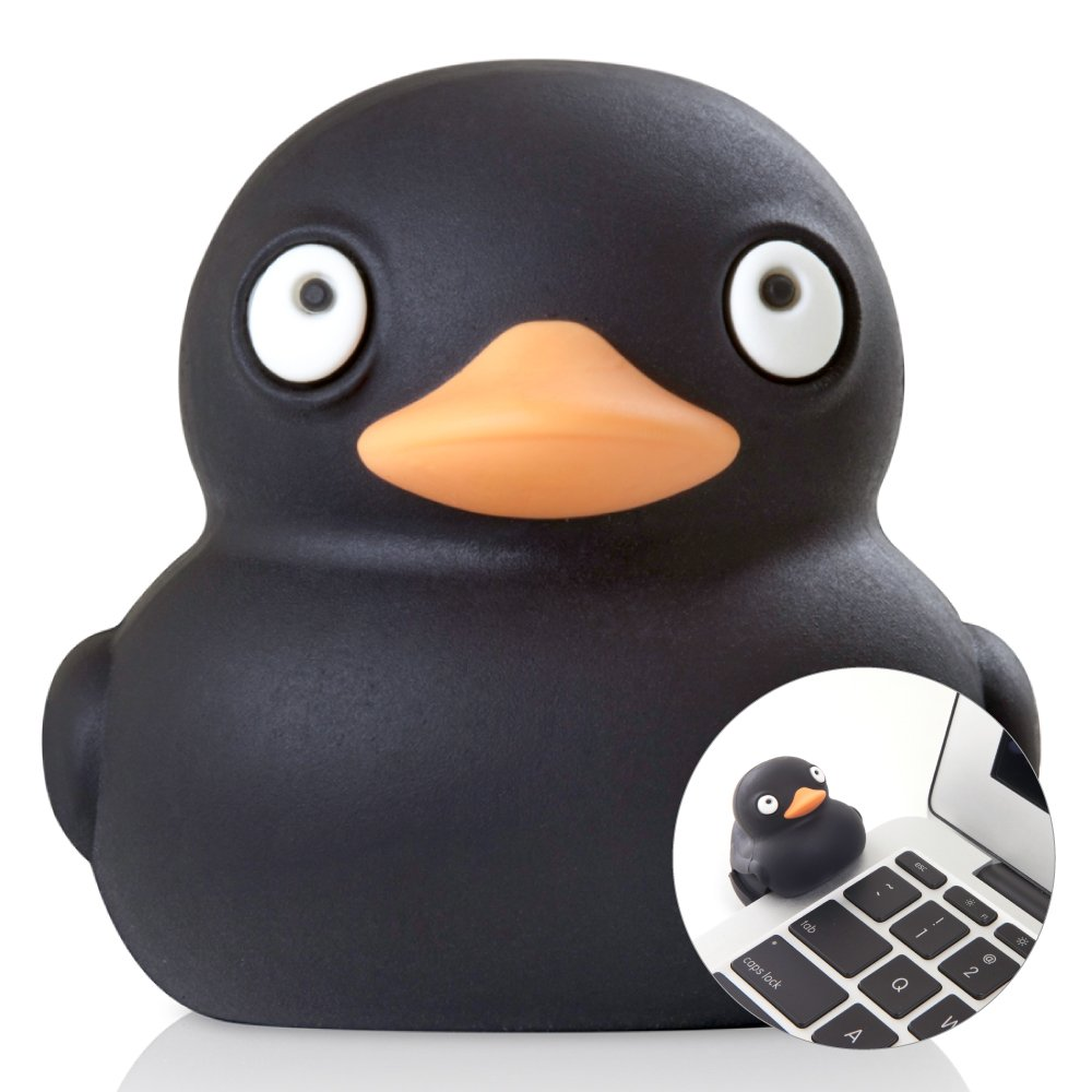 Bone Collection 16GB USB Flash Drive, Novelty Cute Animal Cartoon Character Cool Design Silicone Enclosure Memory Stick Thumb Drive for School Students Kids Children - Black Duck