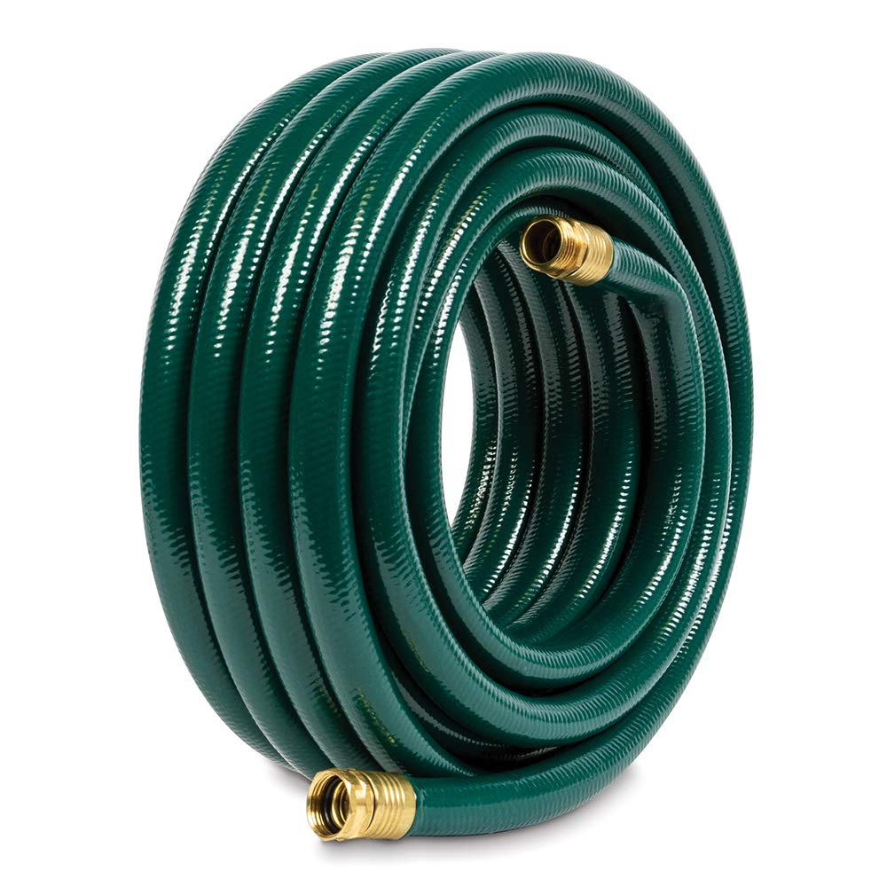 Gilmour 843501-1001 Flexogen Heavy Duty Watering Garden Hose 3/4in x 50 Feet, Green