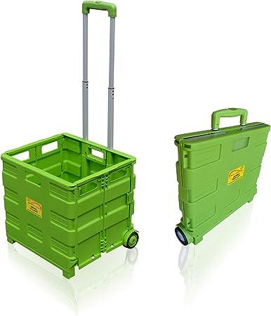 Sun Leisure® Pack and Go Carrito de la compra plegable, carro de arranque con ruedas Green Trolley: Amazon.es: Hogar