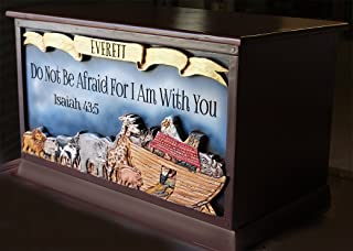 product image for Piazza Pisano Children's Personalized Noah's Ark Wood Toy Box