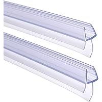 FOCCTS 2pcs Tiras de Gomas Sellados de Baño 90cm de Largo para Mampara de Baño o de Ducha o Puerta de Cristal (Entre 6 a…